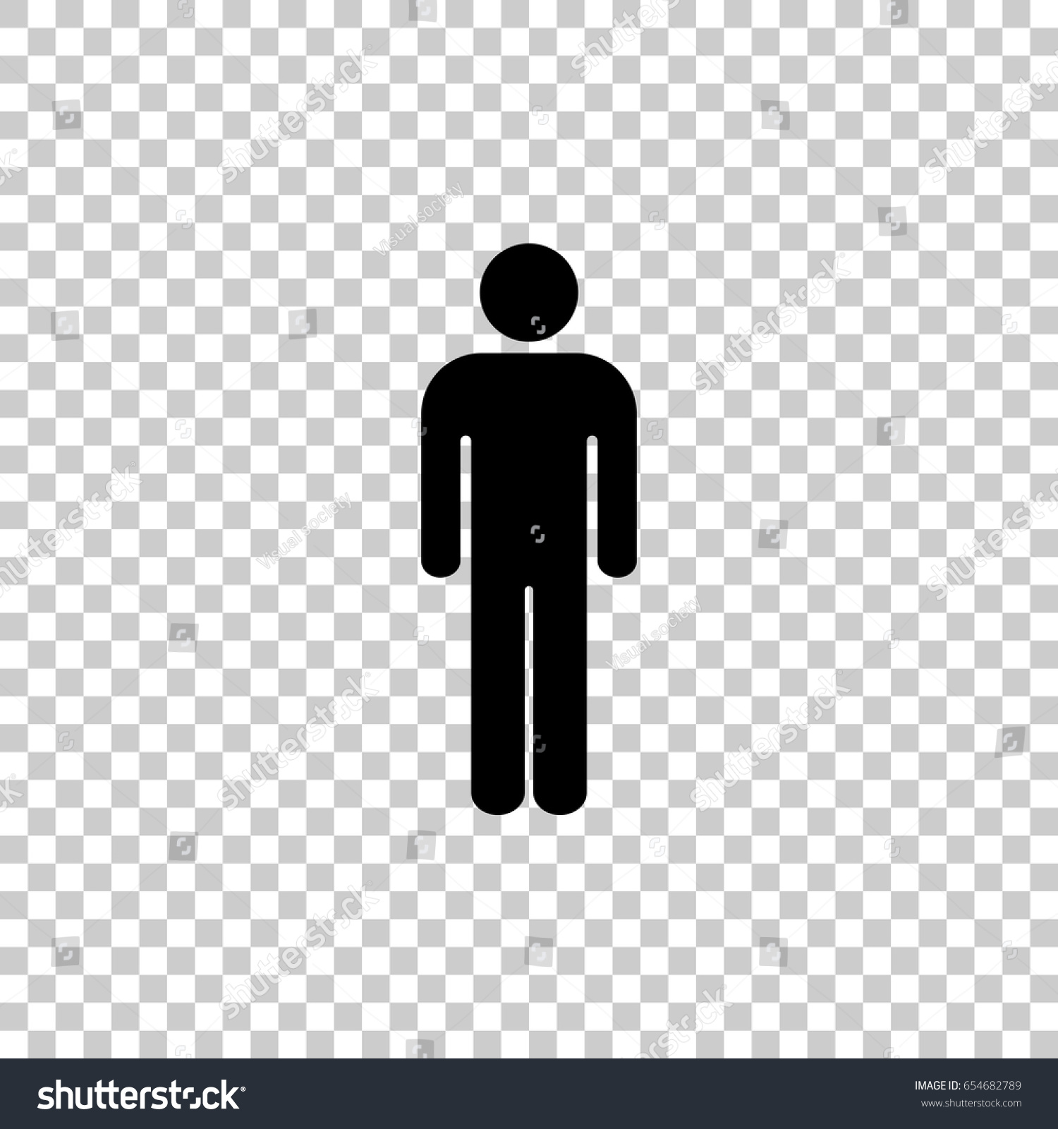 Person Icon Transparent Background #2400 #252345.