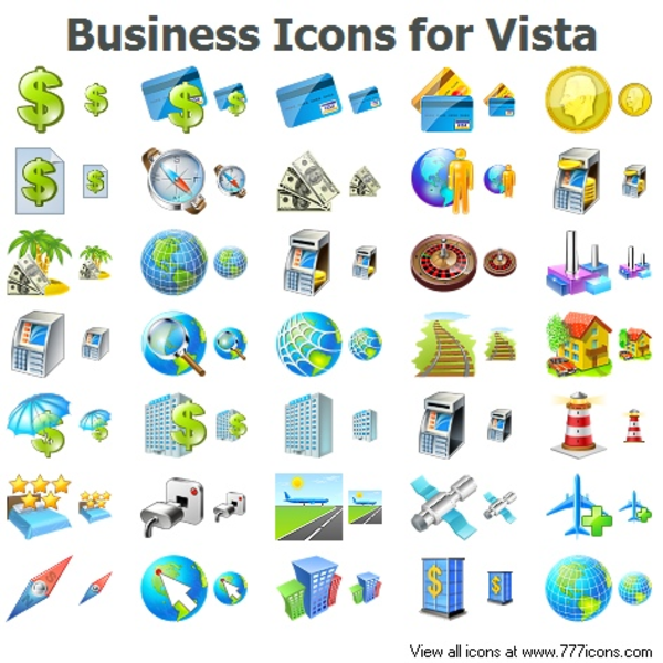 Business Icons For Vista.
