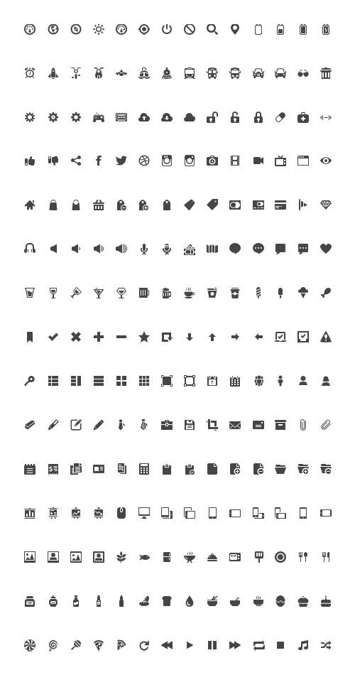 600 Gorgeous Black & White PNG Icons [Freebie.