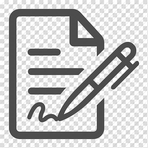 Worksheet and pen icon illustration, Computer Icons Document.