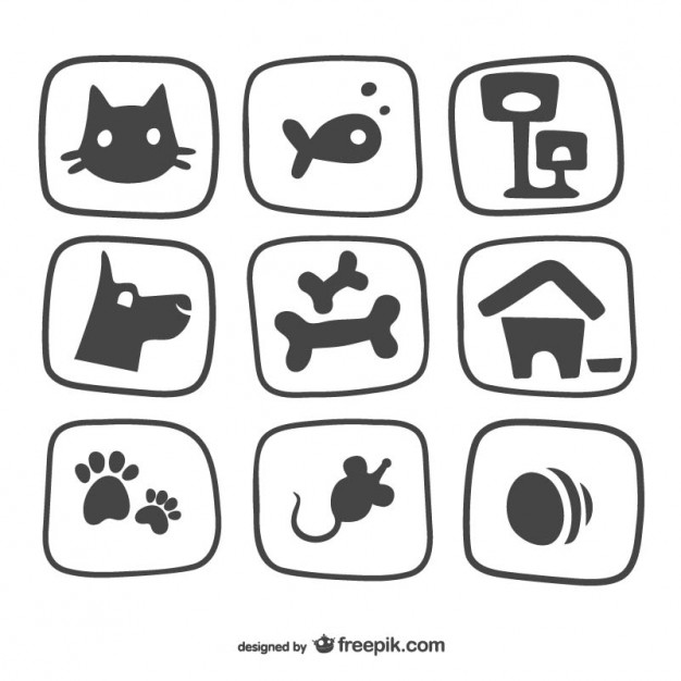 Pet icons pack Vector.