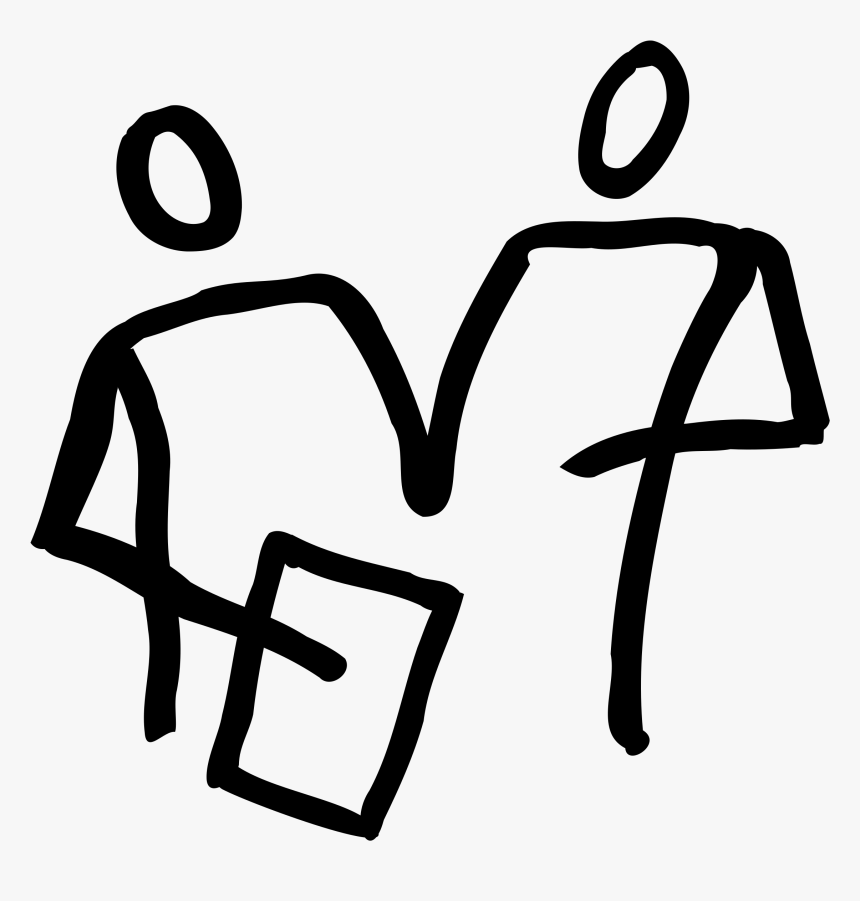 This Free Icons Png Design Of 2 People Looking At A.