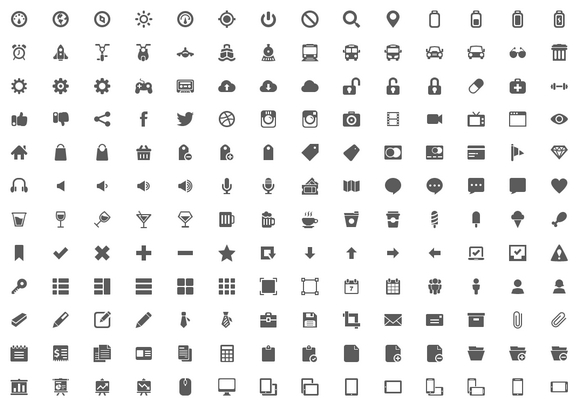600+ Handcrafted Free Icons in PNG and PSD.