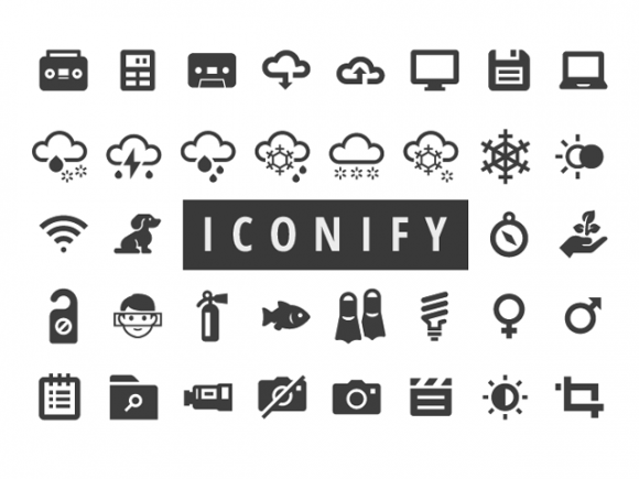Iconify: 650+ free icons for Web and Apps.
