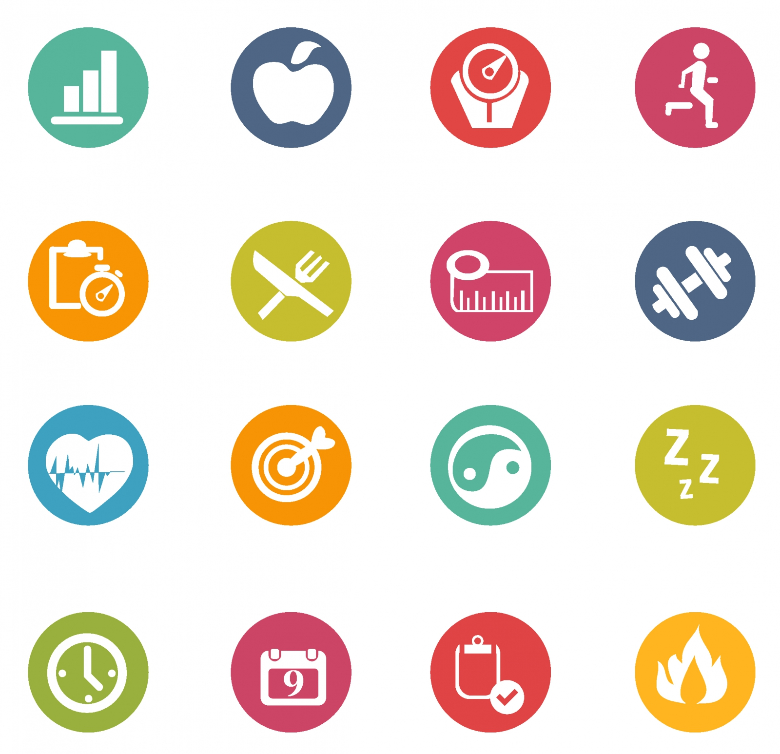 Free vector fitness icons 132989 Fitness Icons #292.