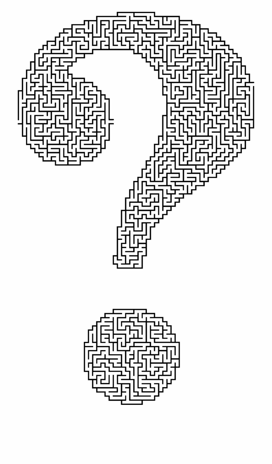 This Free Icons Png Design Of Question Mark Maze.