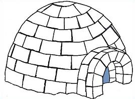 Free Igloo Drawing Clipart.