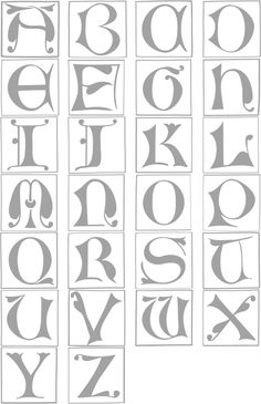 Illuminated Manuscript Font.