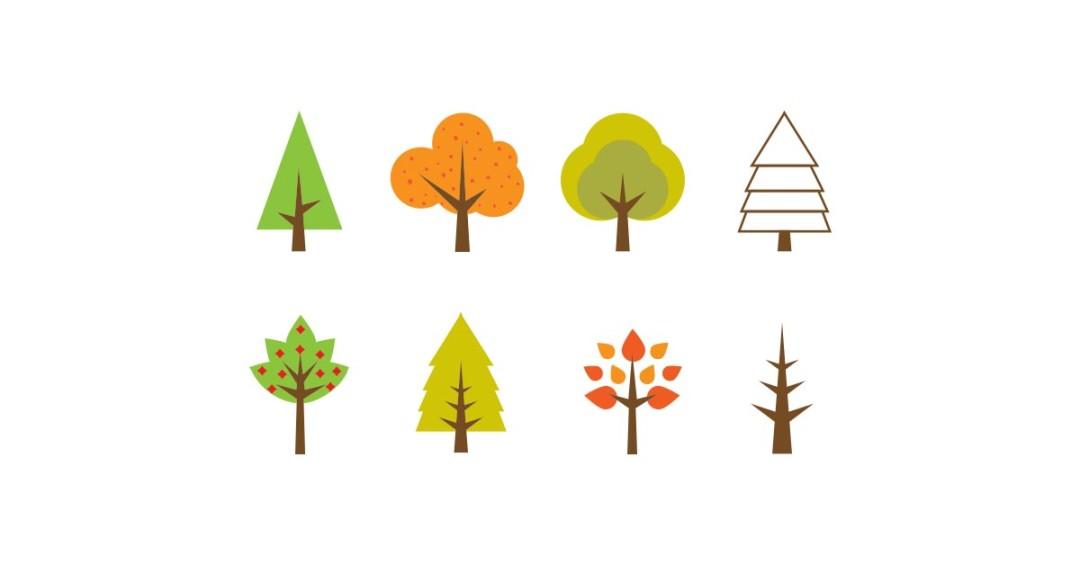 Seasonal Tree Illustration.