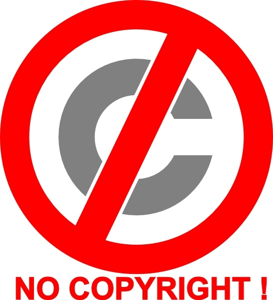 No Copyright Icon clip art Free vector in Open office drawing svg.