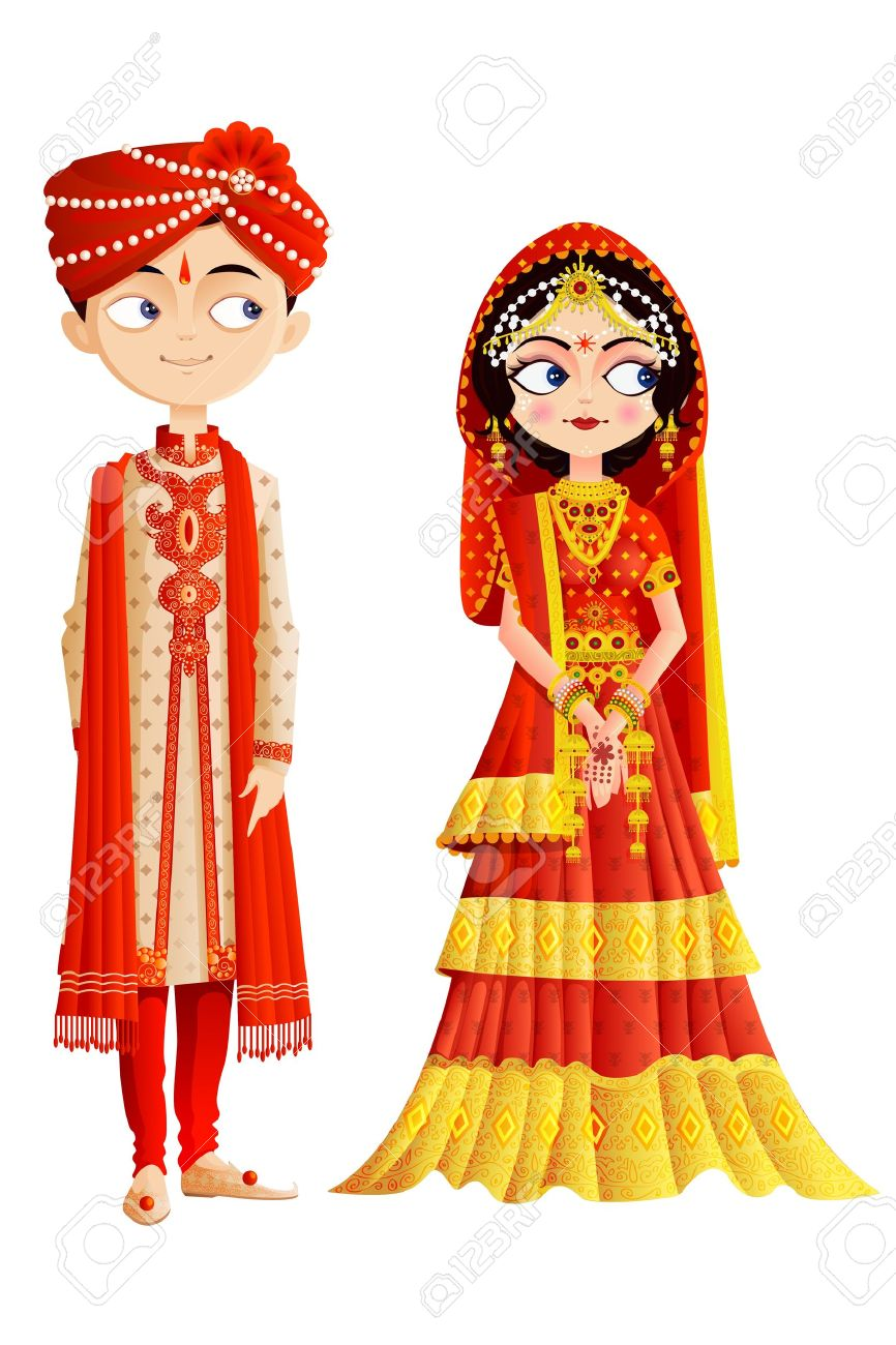 Indian Wedding Couple.