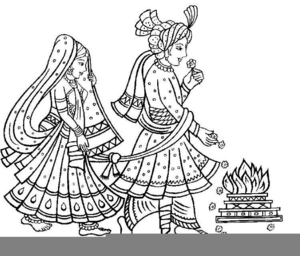 Indian Hindu Wedding Clipart.