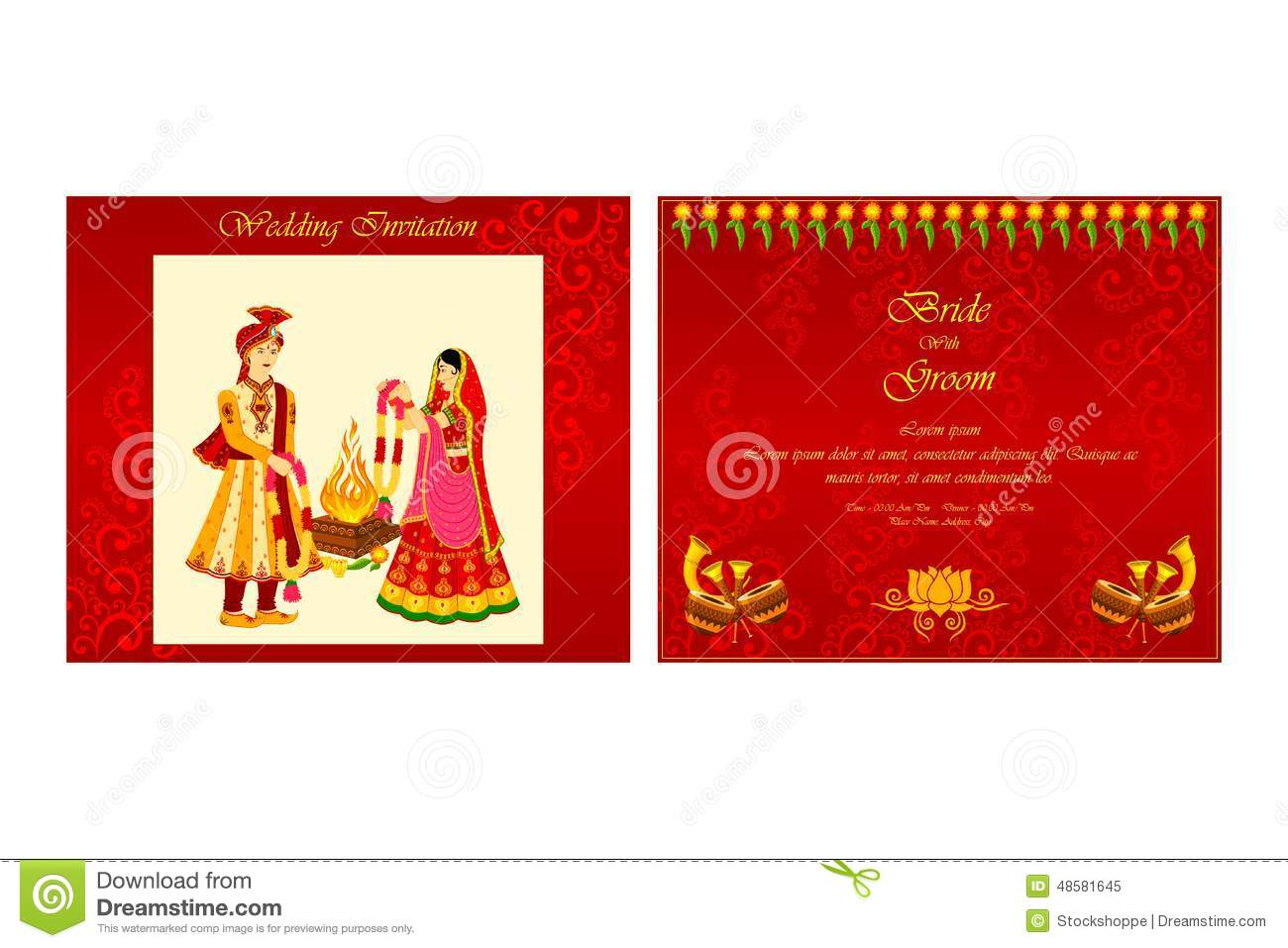 Indian Wedding Vector Clipart Free Download.