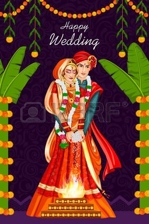 347 Indian Wedding Couple Cliparts, Stock Vector And Royalty.