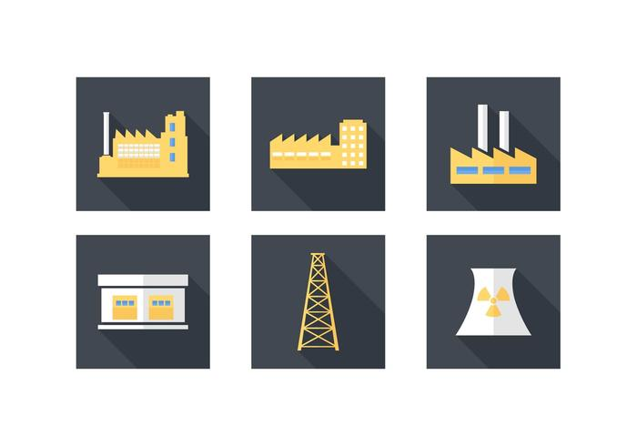 Free Industrial Building Vector Icons.