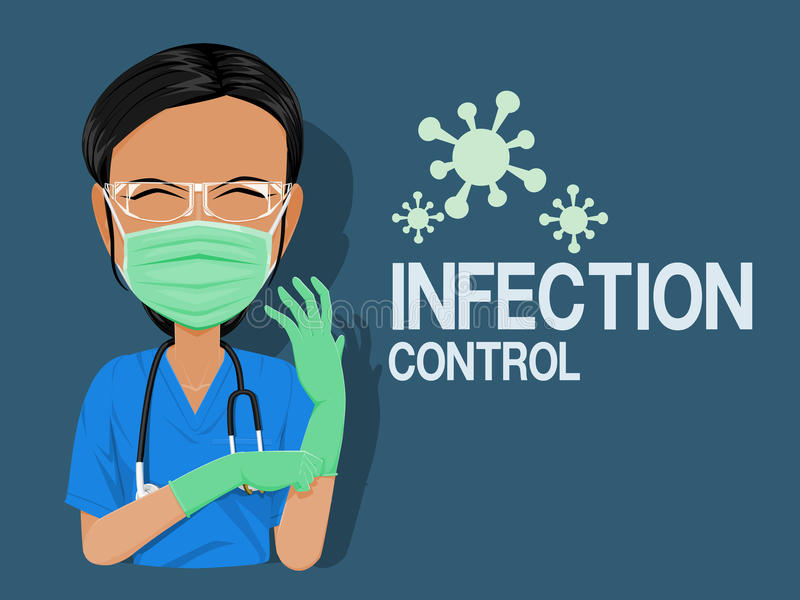 Infection Control Stock Illustrations.
