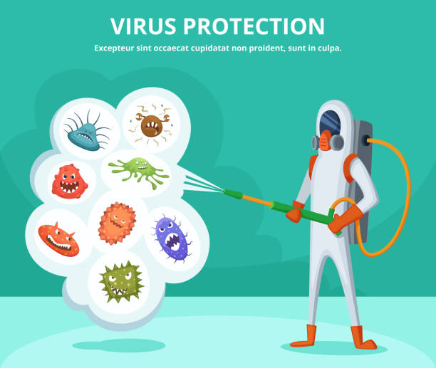 Best Infection Control Illustrations, Royalty.