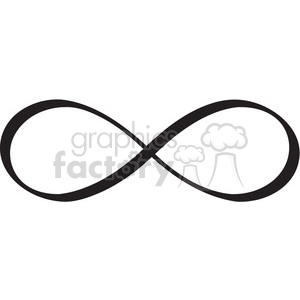 infinity symbol vector design clipart. Royalty.