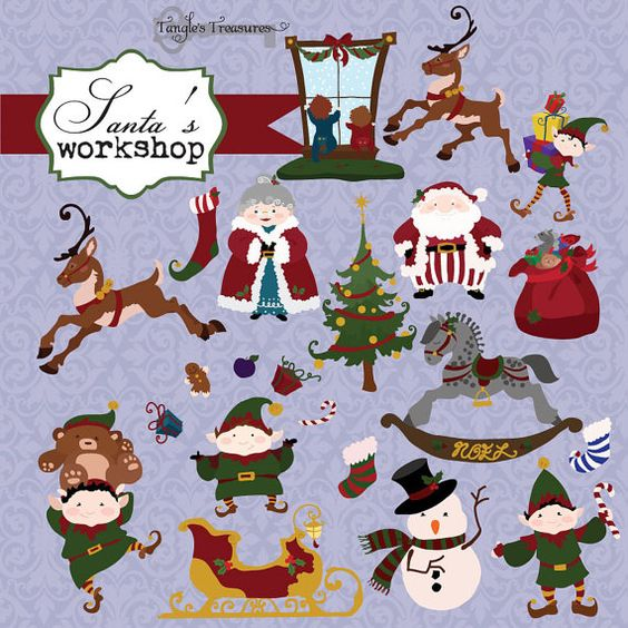 Free instant download santa clipart.