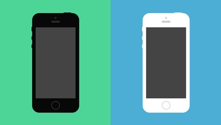 Flat iPhone 5S Psd Vector Mockup Clipart Picture.