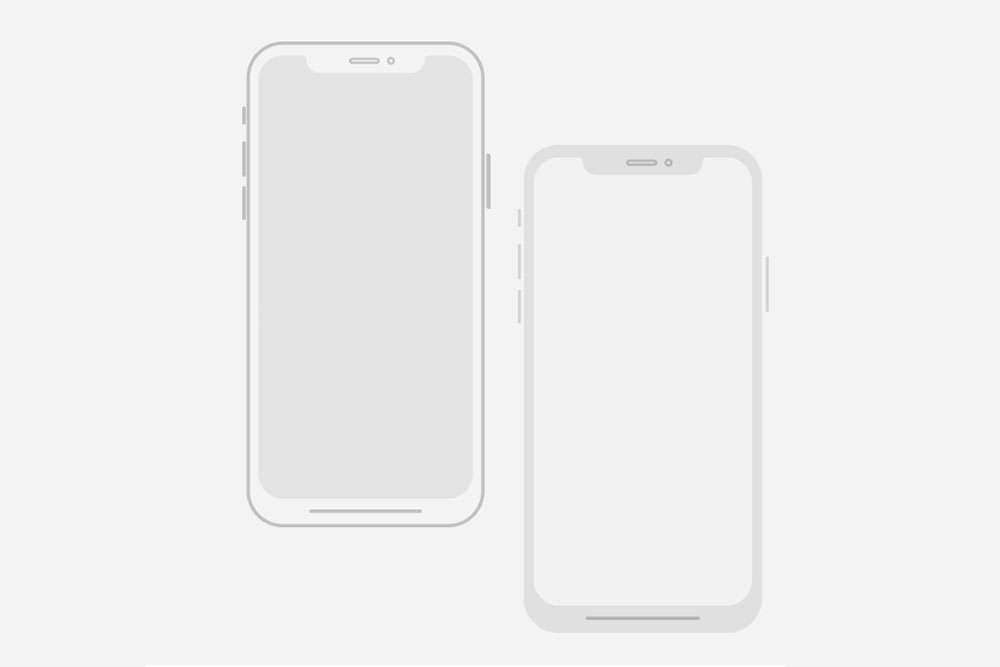 20 iPhone Outline Mockups For Excellent Design Presentation.