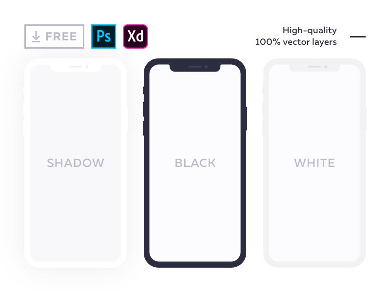 20 Free iPhone X Mockups [PSD, Sketch] — 2019.