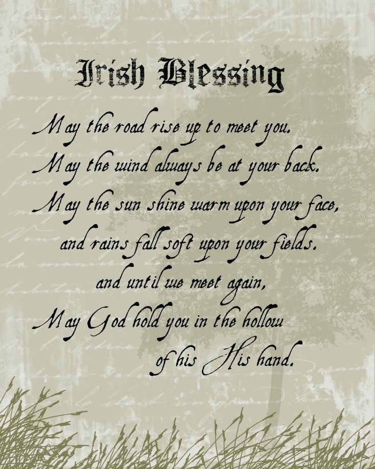 free irish blessing clipart