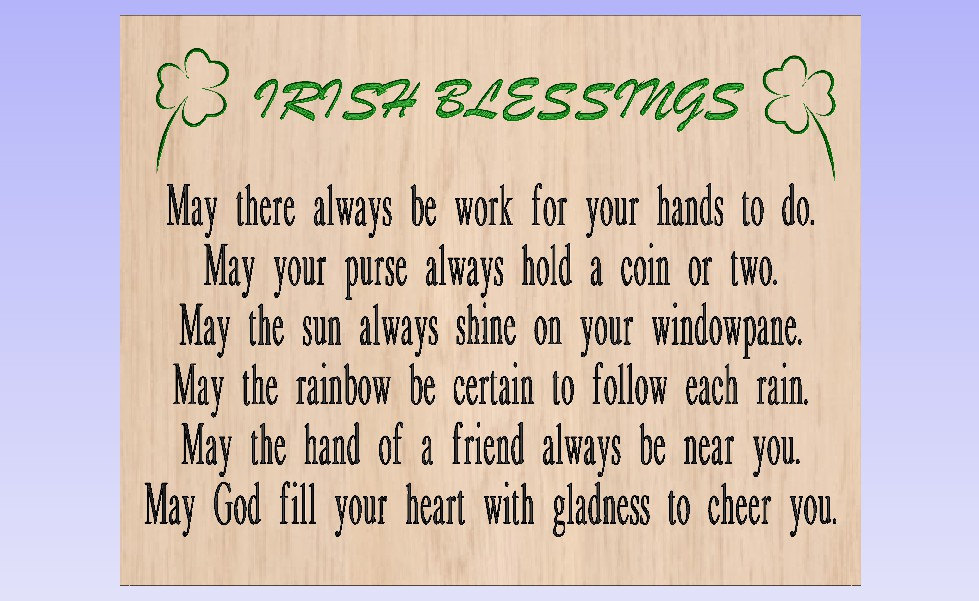 Irish blessing.