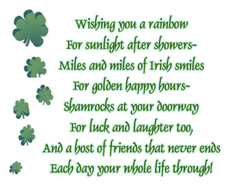 Irish residents here in the Upstate, … st patricks day poem Did.