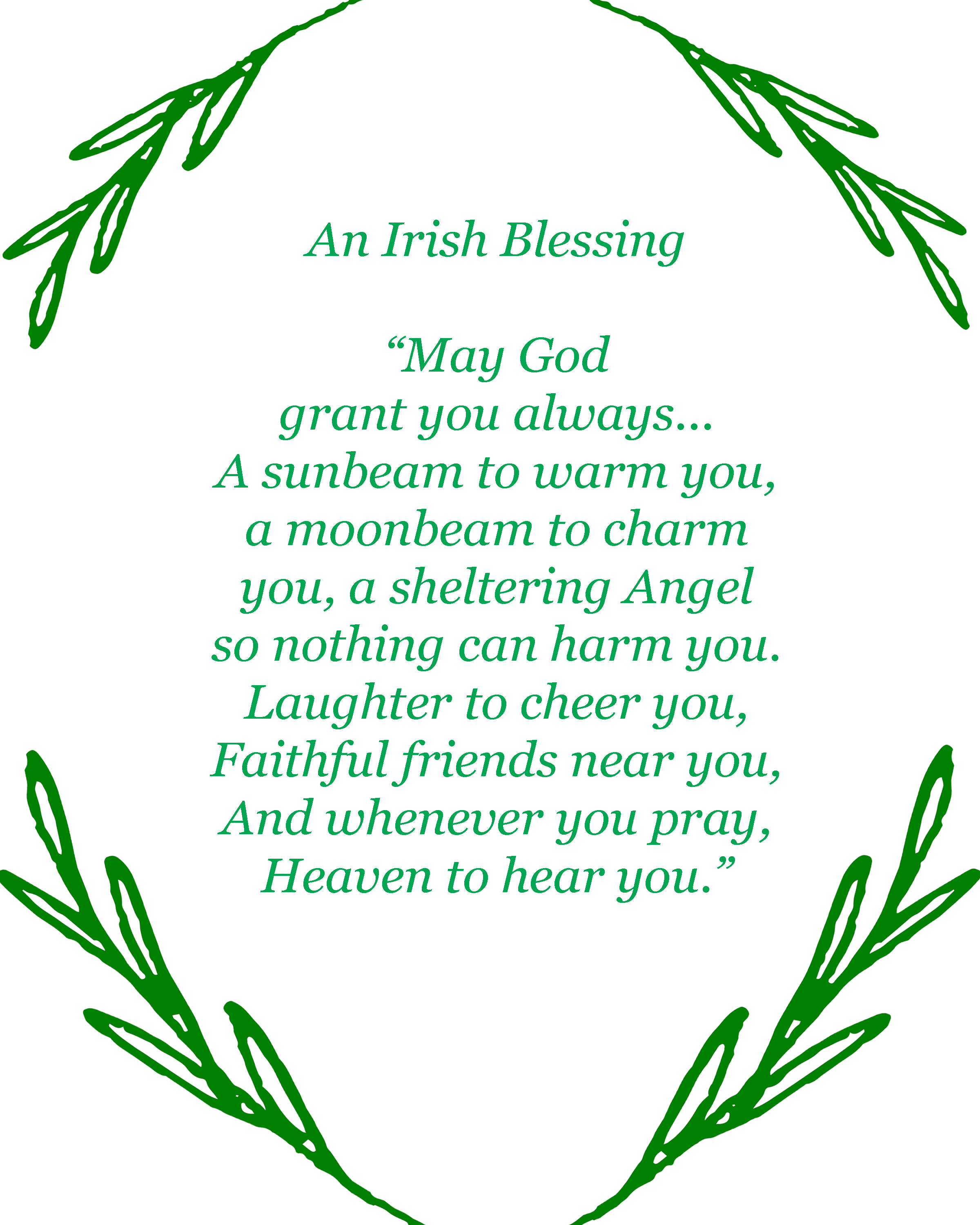 Irish Blessing Printable.