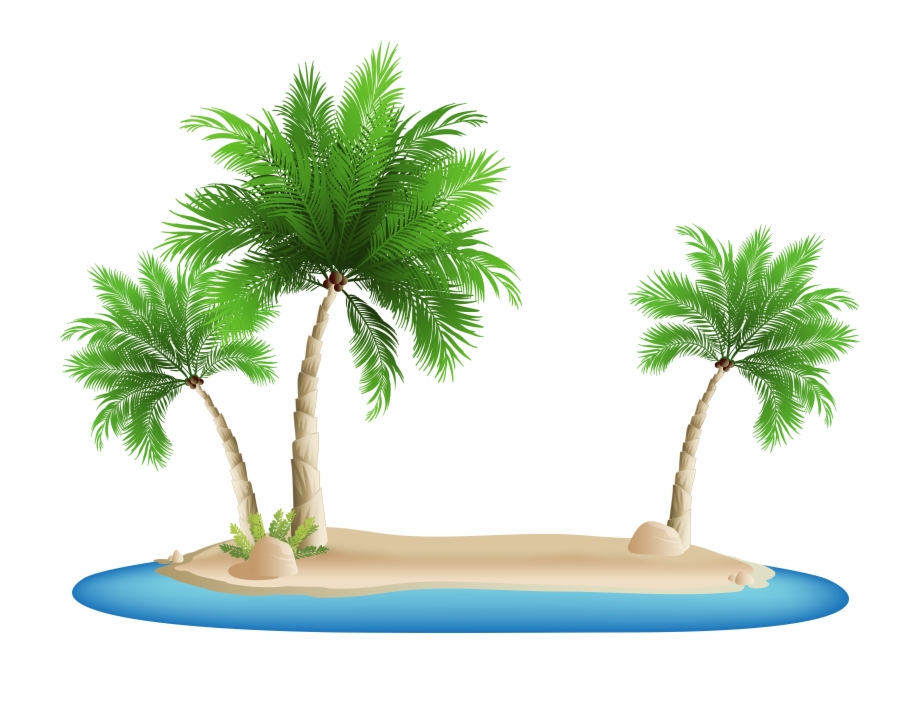 Clip Royalty Free Library Palm Tree Island Clipart.
