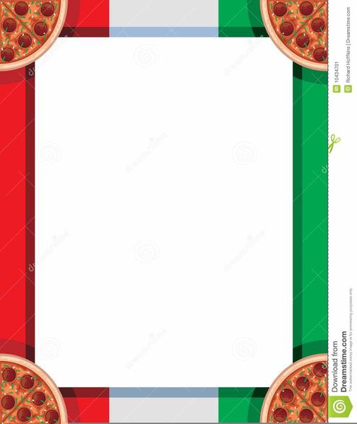 Italian Food Clipart Borders.