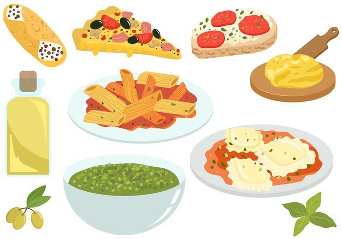 Free Italian Food Vectors.