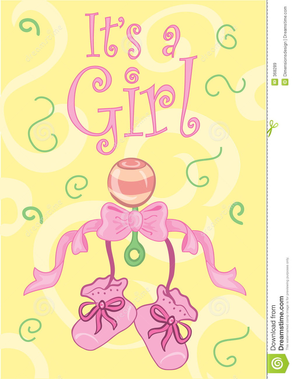 It's A Girl Royalty Free Stock Images.