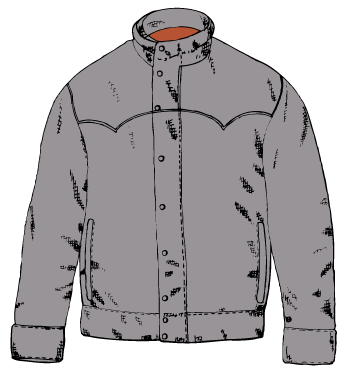 2934 Jacket free clipart.