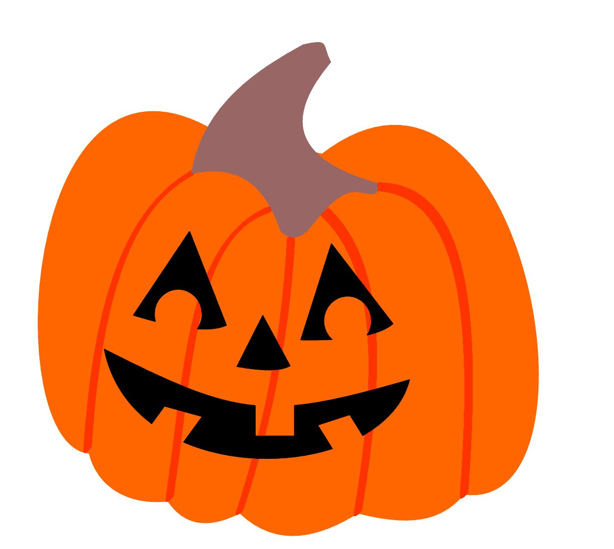 happy jack o lantern clipart #8