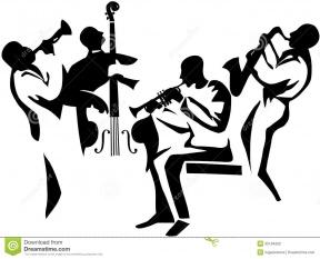 Blues Instruments Clipart.