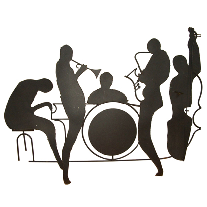 Silhouette Jazz Band Wall Sculpture Id.