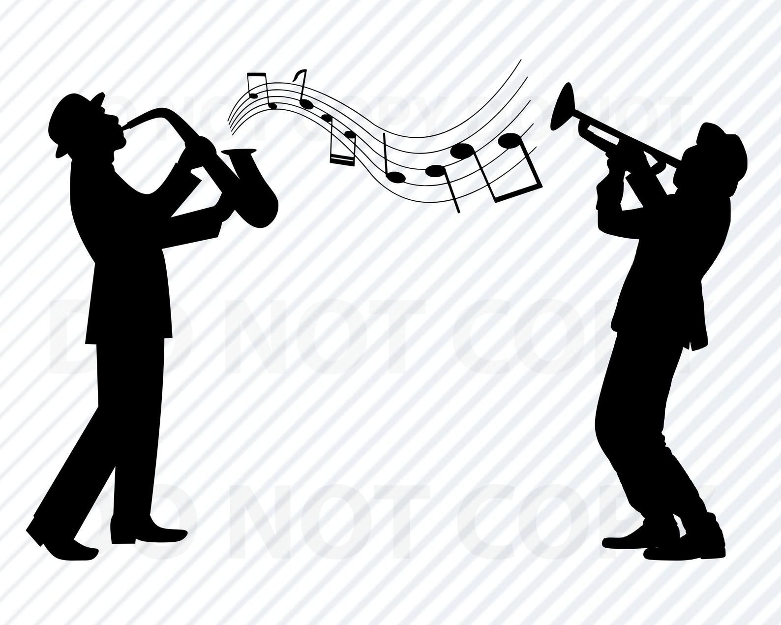 Jazz Band SVG Files For Cricut Silhouette.
