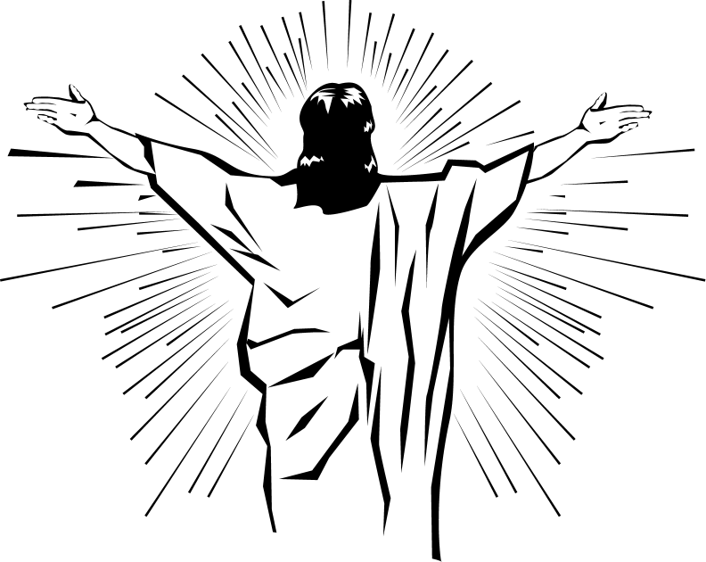 Resurrection of Jesus Easter Clip art.