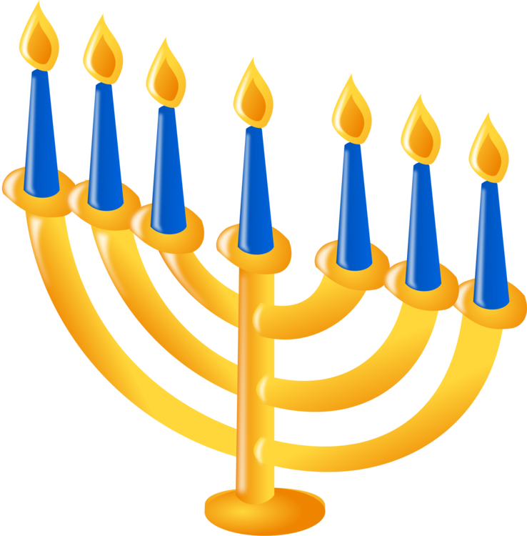 Menorah,Hanukkah,Candle Holder Vector Clipart.