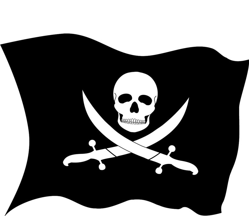 Jolly Roger Piracy Flag Clip art.