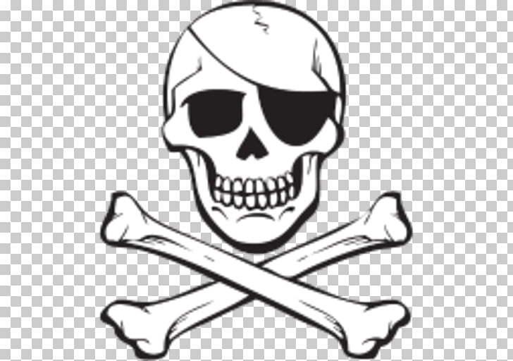 Skull and crossbones Jolly Roger Piracy, skull PNG clipart.