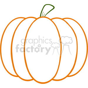 6602 Royalty Free Clip Art Pumpkin Cartoon Illustration clipart.  Royalty.