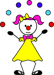 Clown Juggling Balls Clipart Free.