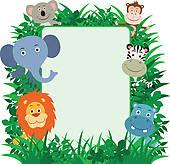 Free Jungle Border Clipart.