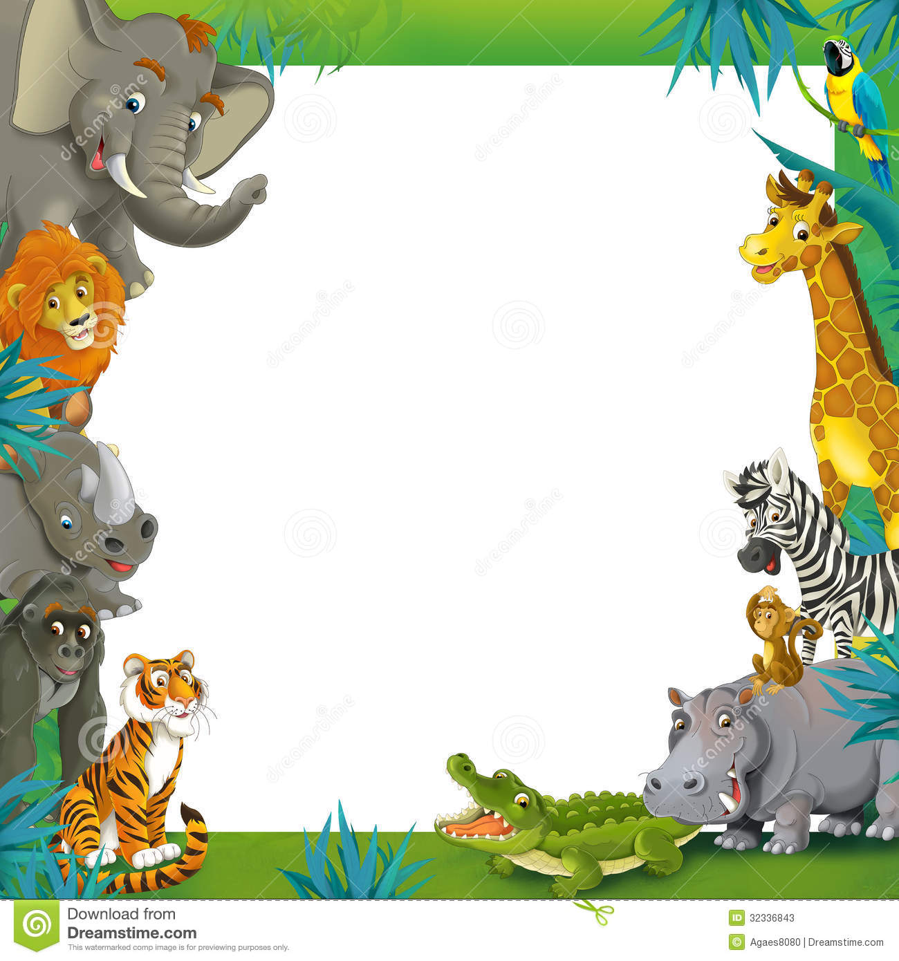 Jungle Frame Clipart.