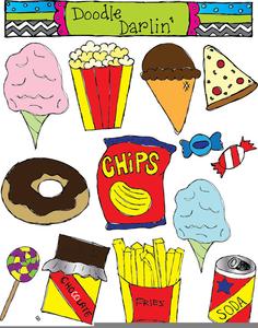 Free Junk Food Clipart.