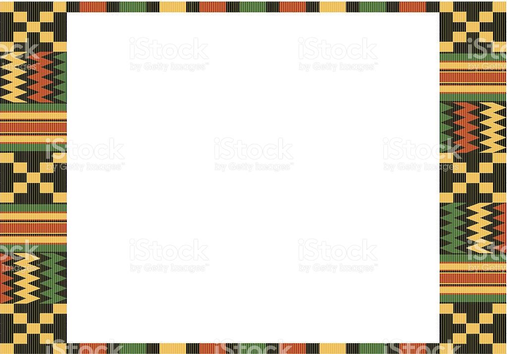 Kente Cloth Frame C stock vector art 467236905.