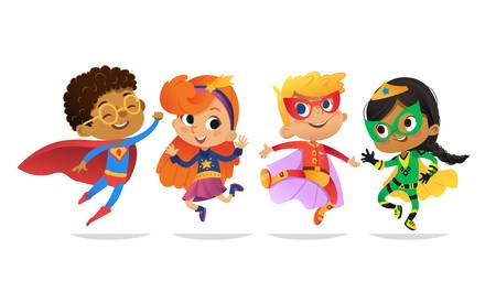 3,782 Superhero Kids Cliparts, Stock Vector And Royalty Free.